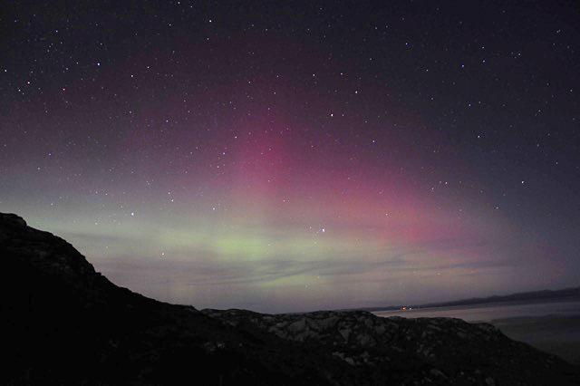 northern lights over Rona