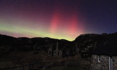 Northern lights from Seascape
